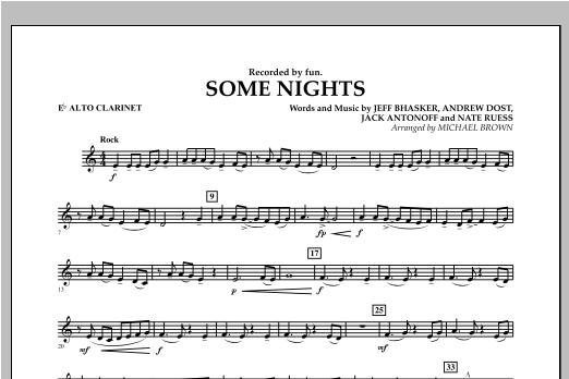 Some Nights - Eb Alto Clarinet Sheet Music