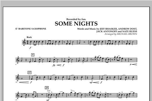 Some Nights - Eb Baritone Saxophone Sheet Music