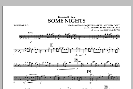 Some Nights - Baritone B.C. Sheet Music