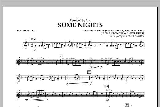 Some Nights - Baritone T.C. Sheet Music