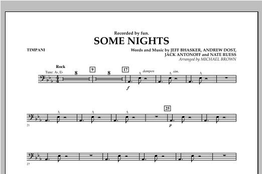 Some Nights - Timpani Sheet Music