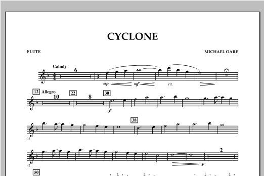 Cyclone - Flute Sheet Music