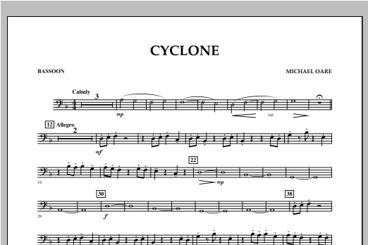 Cyclone - Bassoon Sheet Music