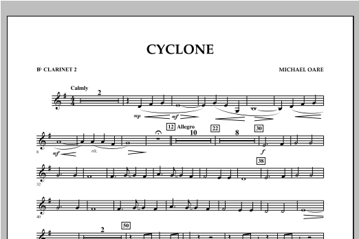 Cyclone - Bb Clarinet 2 Sheet Music