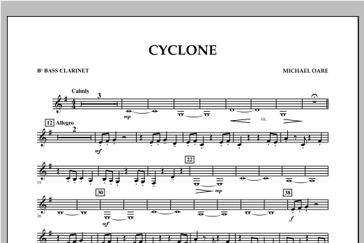 Cyclone - Bb Bass Clarinet Sheet Music