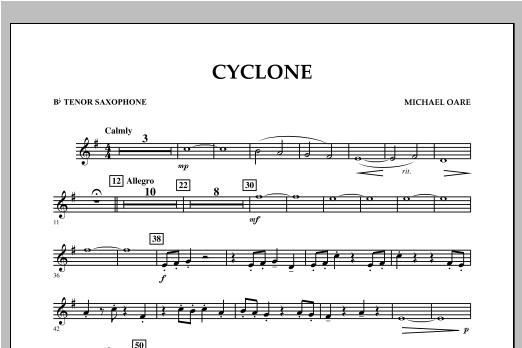 Cyclone - Bb Tenor Saxophone Sheet Music