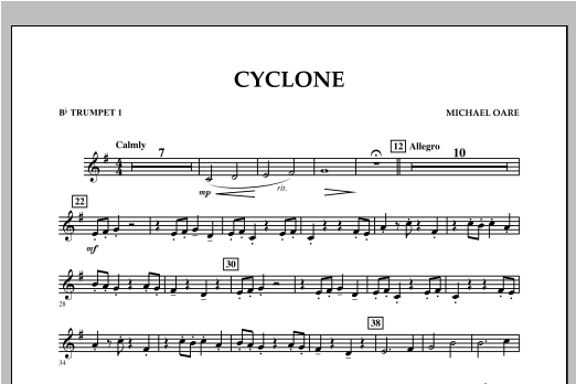 Cyclone - Bb Trumpet 1 Sheet Music