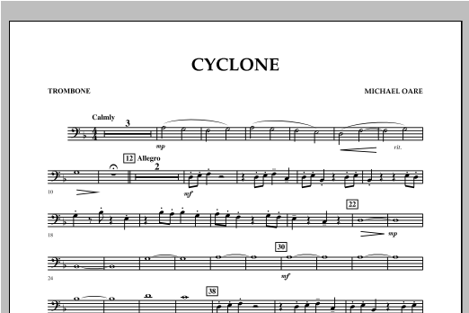 Cyclone - Trombone Sheet Music