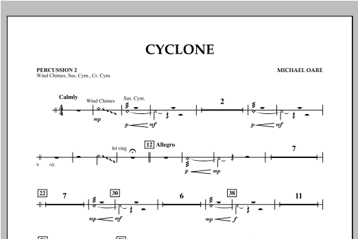 Cyclone - Percussion 2 Sheet Music