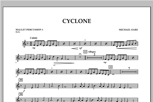 Cyclone - Mallet Percussion 1 Sheet Music