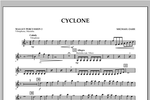 Cyclone - Mallet Percussion 2 Sheet Music