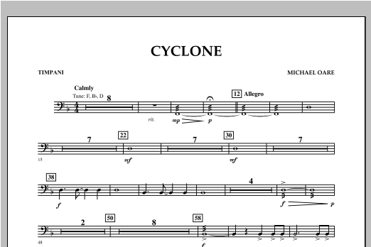 Cyclone - Timpani Sheet Music