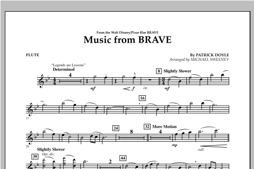 Music From Brave - Flute Sheet Music