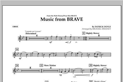 Music From Brave - Oboe Sheet Music