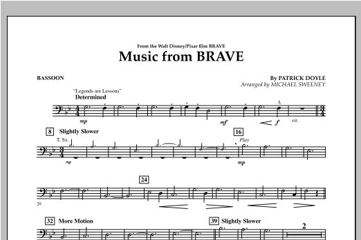 Music From Brave - Bassoon Sheet Music