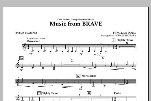 Music From Brave - Bb Bass Clarinet Sheet Music