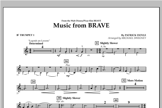 Music From Brave - Bb Trumpet 1 Sheet Music