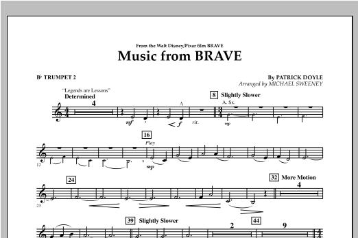 Music From Brave - Bb Trumpet 2 Sheet Music