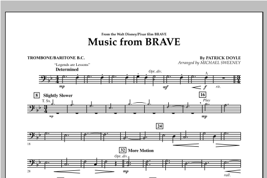 Music From Brave - Trombone/Baritone B.C. Sheet Music