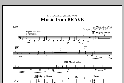Music From Brave - Tuba Digitale Noten