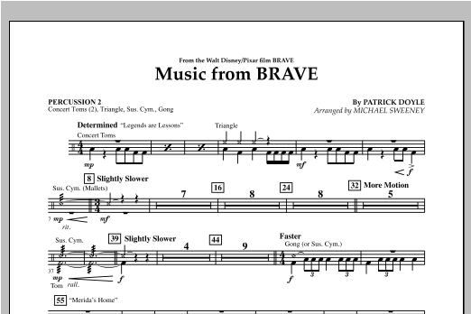 Music From Brave - Percussion 2 Sheet Music