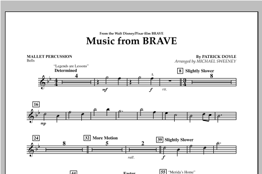Music From Brave - Mallet Percussion Sheet Music