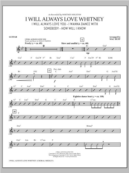 I Will Always Love Whitney - Guitar Sheet Music