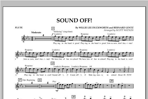 Sound Off - Flute Sheet Music