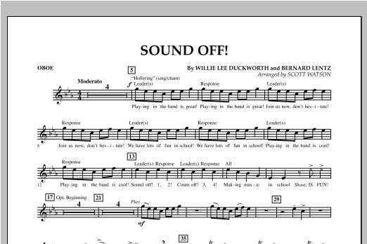 Sound Off - Oboe Sheet Music