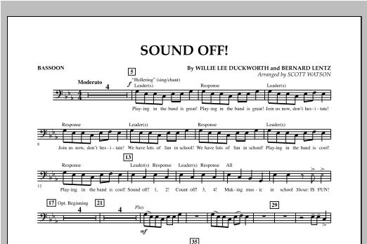 Sound Off - Bassoon Sheet Music