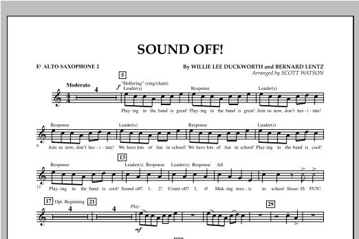 Sound Off - Eb Alto Saxophone 2 Sheet Music