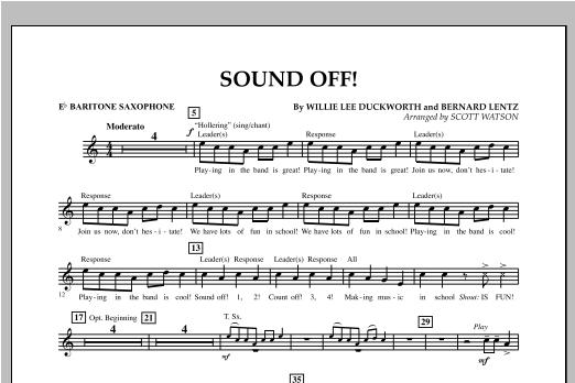 Sound Off - Eb Baritone Saxophone Sheet Music