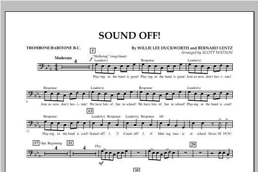 Sound Off - Trombone/Baritone B.C. Sheet Music