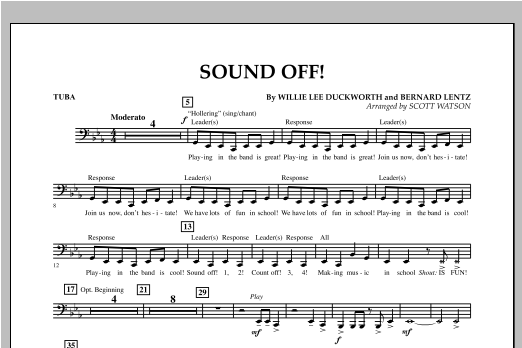 Sound Off - Tuba Sheet Music