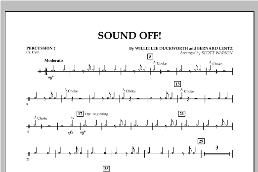 Sound Off - Percussion 2 Sheet Music
