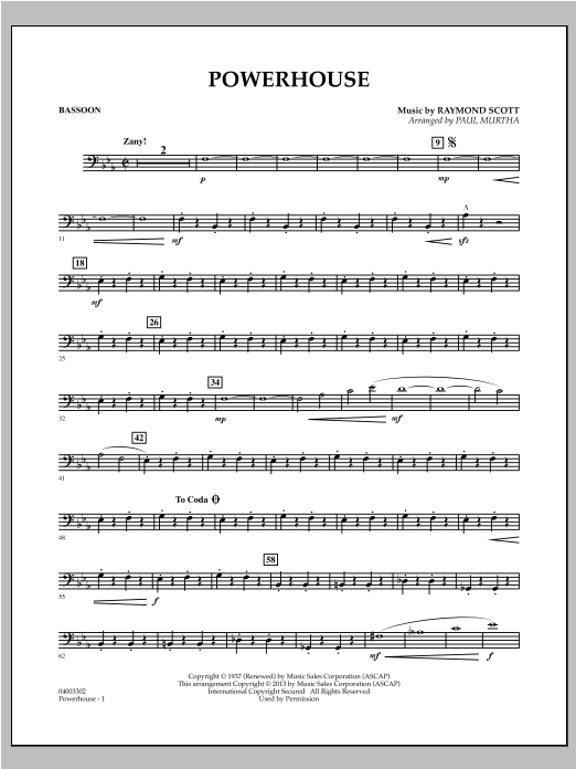 Powerhouse - Bassoon Sheet Music