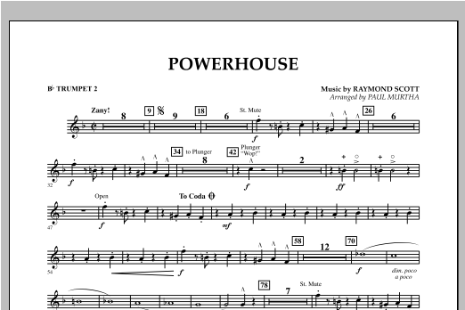 Powerhouse - Bb Trumpet 2 Sheet Music