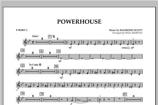 Powerhouse - F Horn 2 Sheet Music