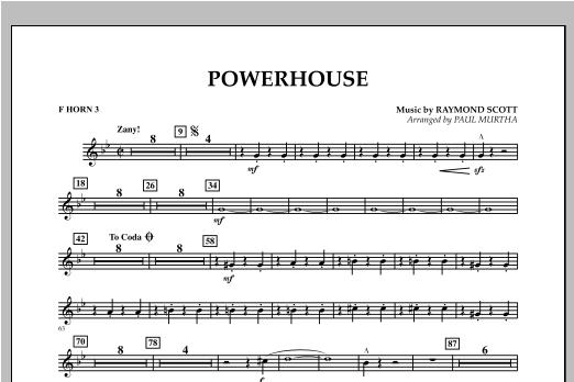 Powerhouse - F Horn 3 Sheet Music