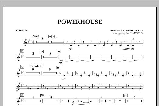 Powerhouse - F Horn 4 Partituras Digitales