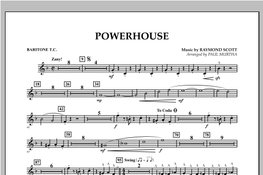 Powerhouse - Baritone T.C. Sheet Music