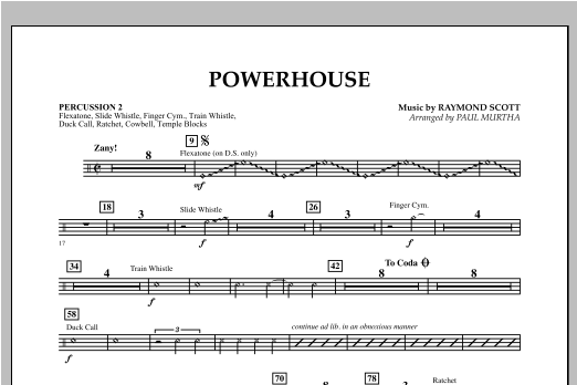 Powerhouse - Percussion 2 Sheet Music