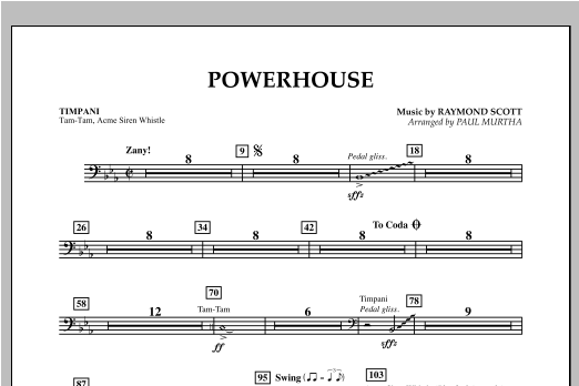 Powerhouse - Timpani Sheet Music