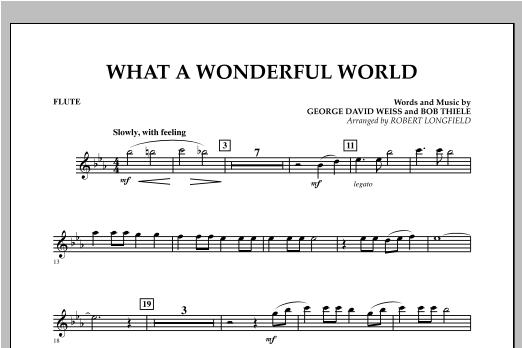 What A Wonderful World - Flute Sheet Music