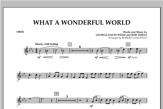 What A Wonderful World - Oboe Sheet Music