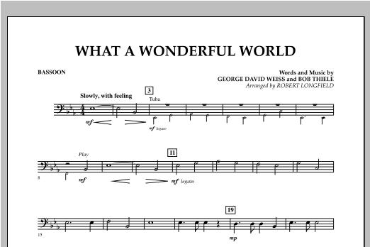 What A Wonderful World - Bassoon Sheet Music
