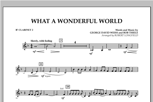 What A Wonderful World - Bb Clarinet 2 Sheet Music