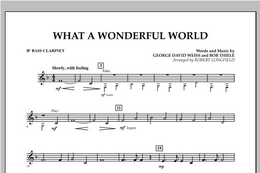 What A Wonderful World - Bb Bass Clarinet Sheet Music