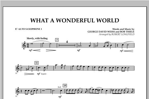 What A Wonderful World - Eb Alto Saxophone 1 Sheet Music