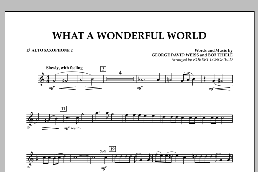 What A Wonderful World - Eb Alto Saxophone 2 Sheet Music